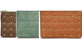 Parcel Of Mixed Faux leather Penny Purse with Gold studded design- 50510