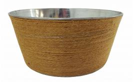 Wholesale Joblot of 30 Tbl Belgravia Jute Zinc Wrapped Bowls 22cm