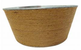 Wholesale Joblot of 30 Tbl Belgravia Jute Zinc Wrapped Bowls 25cm
