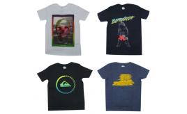 Wholesale Joblot of 10 Quiksilver Boys Mixed T-Shirts Sizes 12-16