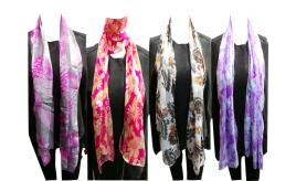 Wholesale Joblot of 24 Ladies Summer Scarves 6 Lovely Designs
