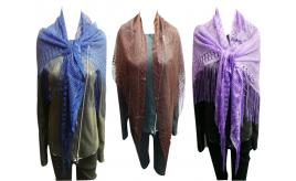Wholesale Joblot of 24 Ladies Tassel Shawls 4 Colours Available