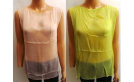 Joblot of 5 Vanessa Knox Ladies Sleeveless 'Zofia' Tops Yellow/Pink