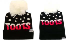 Wholesale Joblot of 10 Toots Ladies Pink Logo Beanie Bobble Hats Regular/Long