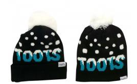 Wholesale Joblot of 10 Toots Ladies Turquoise Logo Bobble Hats Regular/Long