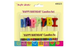 Happy Birthday Party Cake Candles Set