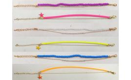 Joblot of 20 Shimla Assorted Bracelets Double Strand Bright Colours SH711-724