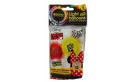 Wholesale Joblot of 72 Illooms Minnie Mouse Light Up Balloons Packs of 5