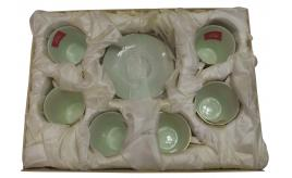 One Off Joblot of 3 Madame Posh 'Jasmine' Tea Cup & Saucer Sets Green 41279