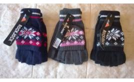 Joblot of 7 Ladies Rockjock Fingerless Combo Mitten Gloves