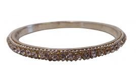 Wholesale Joblot of 10 Phoenix Jayy Thin Oval Crystal Silver/Gold Bangles
