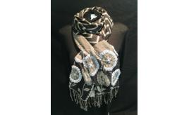 large rectangular embroidered scarves