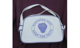 32 x NEW NORTHERN SOUL `Keep the faith' messenger shoulder cross body bags