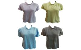 One Off Joblot of 17 Ladies Workwear Polo Shirts 4 Colours Sizes S-XL