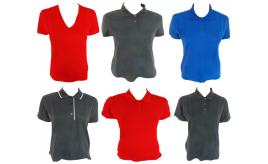 One Off Joblot of 25 Ladies Polo Shirts & T-Shirts Mixed Colours