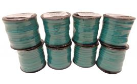 One Off Joblot of 200m of Turquoise High Quality Flat Leather Cords 3mm Wide