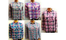 Wholesale Joblot of 10 Ladies Westworld Flannel Check Shirts Various Colours