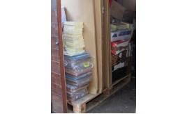 Large pallet of envelopes, Feltboards, files and other stationary items