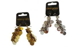 Wholesale Joblot of 30 DesignSix Coin Drop Earrings Silver & Gold 11377