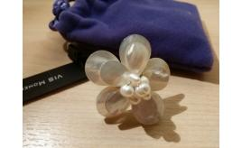 VIS Moment, Fiji - 22x Freshwater Pearl/Seashell Flower Ring & Brooch, RRP: £398 - 44 FREE RINGS