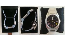 One Off Joblot of 7 Bench Blue Cord Bracelets & 1 Bench Watch