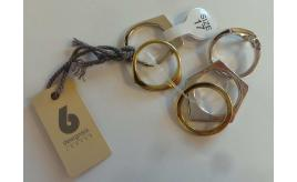 Wholesale Joblot of 20 DesignSix 'Flat Clean' Ring Multipack Silver & Gold