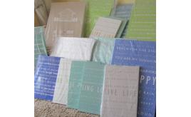 16 pieces of `Feel Good' Typographic Canvas wall art. A1 and A2