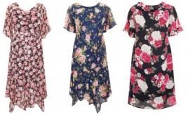 Eaonplus Plus Size Floral Dresses Sizes 18-32