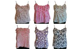 Wholesale Joblot of 10 Westworld Ladies Sleeveless Summer Tops Mixed Styles