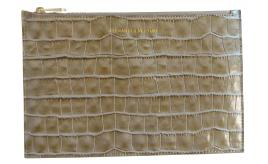 Wholesale Joblot of 10 Alexander Venturi Croc Evening Leather Pouch Mink Grey