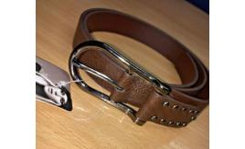 20 Brown Horseshoe Buckle Belts