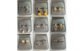 Wholesale Joblot of 20 Assorted Ladies Earrings In Gift Boxes Various Designs