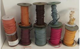 Joblot of 490m of Mixed Colour High Quality Flat Real Leather Cords 4mm Wide