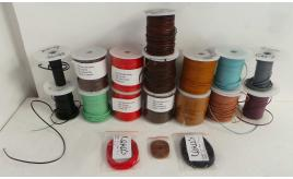 Joblot of 1049m of Mixed Colour High Quality Flat Real Leather Cords 2mm Wide