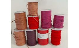 Joblot of 580m of Mixed Colour High Quality Flat Leather Cords 3mm/2mm Wide