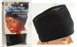 0cc09d7aee6 Wholesale Joblot of 50 Double Foam Mesh Velcro Wraps For Hair Black