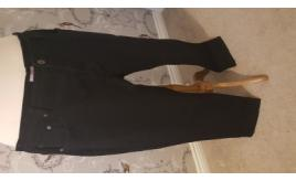 Mixed Lot of Plus Size Womens Black Bootcut Jeans and Plus Size Waistcoat Printed Top with a Glitter Layer