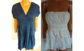 One Off Joblot of 5 Pink Soda Ladies Dresses/Tops Navy/Ivory Sizes XS/S