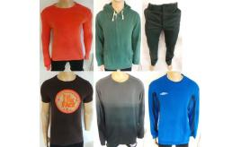 One Off Joblot of 9 Mens Mixed T-Shirts, Hoodies & Trousers Various Brands