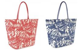 Wholesale Joblot of 24 Leaf Printed Canvas Tote Bags 2 Colours BB0987