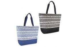 Wholesale Joblot of 24 Paperstraw Print Cotton Tote Bags With Web Handles BB0965