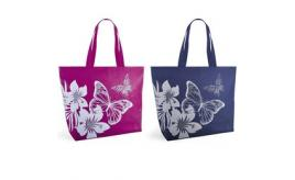 Wholesale Joblot of 36 Butterfly 600D Print Tote Bags 2 Colours BB1029