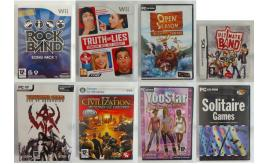 Wholesale Joblot of 100 Nintendo Wii/DS & PC Video Games - Assorted Titles
