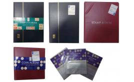 One Off Joblot of 19 Stamp Books/Albums and Coin Albums/Refills