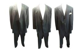 One Off Joblot of 5 Mens Plus Size Branded Suits Mixed Styles