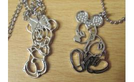 100 xGenuine Disney Pendants Mickey Minnie mouse