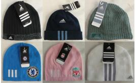 One Off Joblot of 58 Adidas Assorted Winter Beanie Hats Mens & Womens
