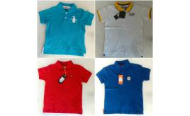 One Off Joblot of 12 Boys Branded Polo Shirts - Le Breve, Penguin, Lyle & Scott