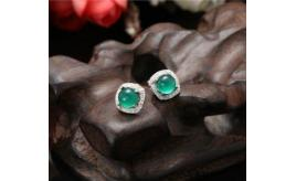 L.L. Green stud S925 sterling silver earrings
