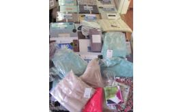 Quantity of Egyptian cotton sheets, cushions, valances, duvet sets, towels etc